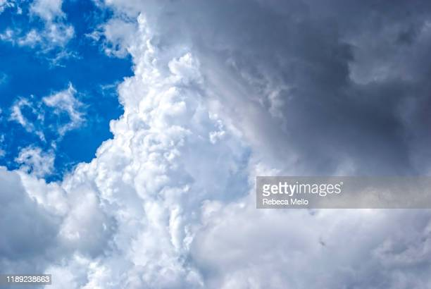 sky full of cumulonimbus clouds on summer - full stock pictures, royalty-free photos & images