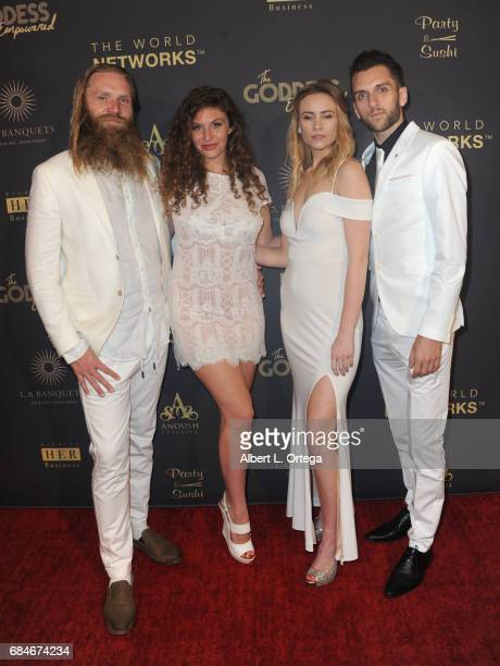 Sky Jensen Wren Barnes Lindsay Rhoades and Armon Anderson arrive for The World Networks Presents Launch Of The Goddess Empowered held at Brandview...