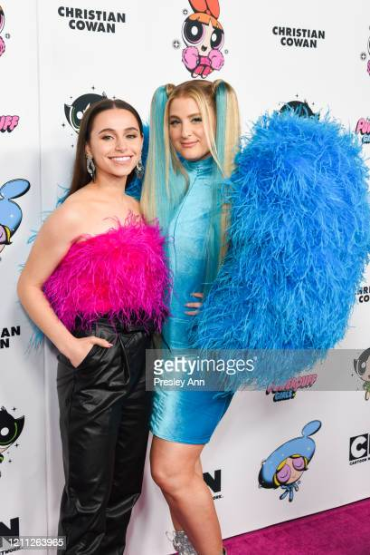 Sky Katz and Meghan Trainor attend Christian Cowan x Powerpuff Girls Runway Show on March 08 2020 in Hollywood California