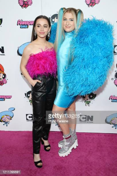 Sky Katz and Meghan Trainor attend the 2020 Christian Cowan x Powerpuff Girls Runway Show on March 08 2020 in Hollywood California
