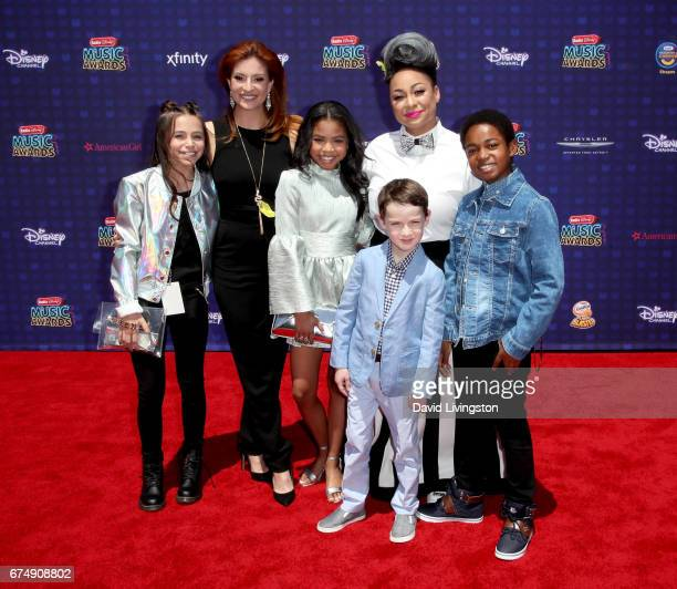 Sky Katz Anneliese van der Pol Navia Ziraili Robinson Jason Maybaum RavenSymone and Issac RyanBrown attend the 2017 Radio Disney Music Awards at...