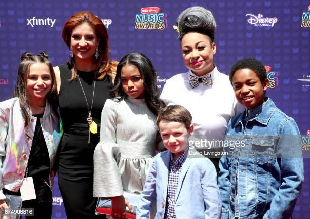 Sky Katz Anneliese van der Pol Navia Ziraili Robinson Jason Maybaum RavenSymone and Issac RyanBrown attend the 2017 Radio Disney Music Awards at...