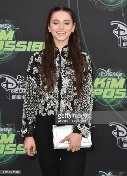 Sky Katz attends the premiere of Disney Channel's Kim Possible at The Television Academy on February 12 2019 in Los Angeles California