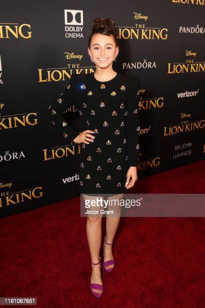"""Sky Katz attends the World Premiere of Disney's """"THE LION KING"""" at the Dolby Theatre on July 09, 2019 in Hollywood, California."""