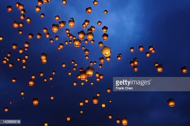 Sky lanterns festival
