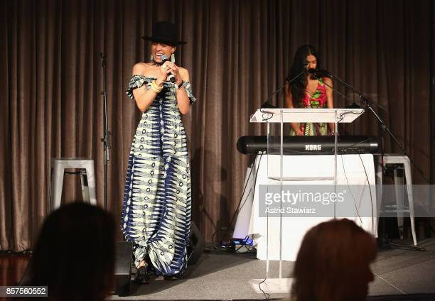 Sky Larrieux and Amel Larrieux perform onstage during the Coalition Against Trafficking In Women's 2017 Gala Game Change A Night Of Celebration at...