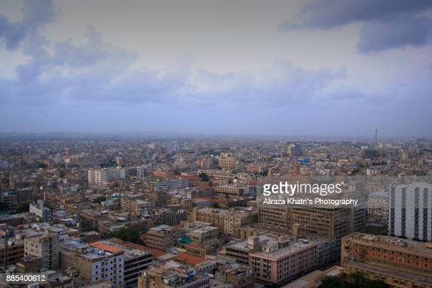 Sky Line of Karachi Uprising City, Pakistan