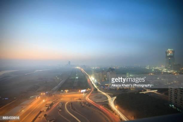 Sky Line of Karachi Uprising City, Pakistan