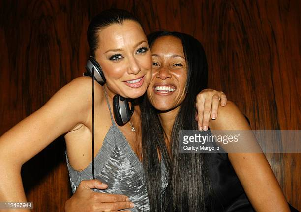 DJ Sky Nellor and Cynthia Garrett during Olympus Fashion Week Fall 2005 Zac Posen MAC After Party at The Four Season's Restaurant in New York City...