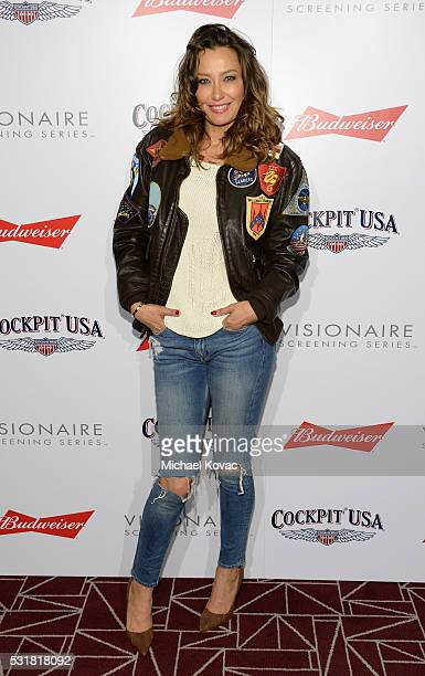 Sky Nellor attends Cockpit USA Budweiser Private 30th Anniversary Screening Of 'Top Gun' at The London Hotel on May 16 2016 in West Hollywood...