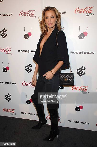 Sky Nellor during Cherry Coke Features New Can Designed by Rocawear Founder JayZ Arrivals at 548 West 22nd Street in New York City New York United...