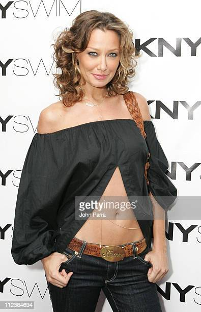 Sky Nellor during DKNY Swim Hosted by Lydia Hearst Arrivals at Hotel Victor in Miami Beach Florida United States