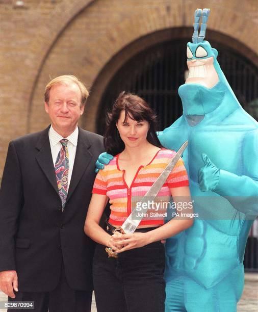 Sky News Sunrise presenter Bob Friend Lucy Lawless star of XenaWarrior Princess and cartoon hero The Tick launch SKY TV's Autumn lineup in London...
