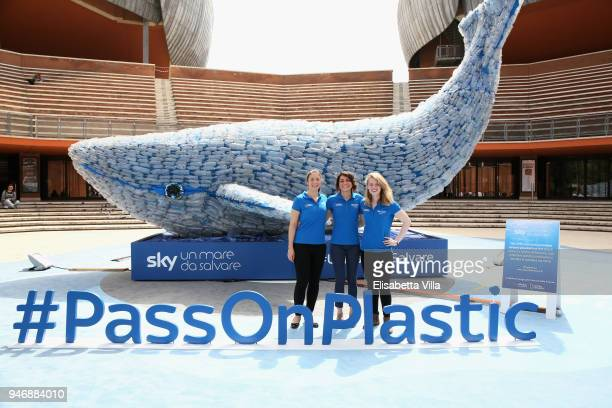 Sky Ocean Rescue Scholars Martina Capriotti Annette Fayet Imogean Napper attend the National Geographic Science Festival at Auditorium Parco Della...