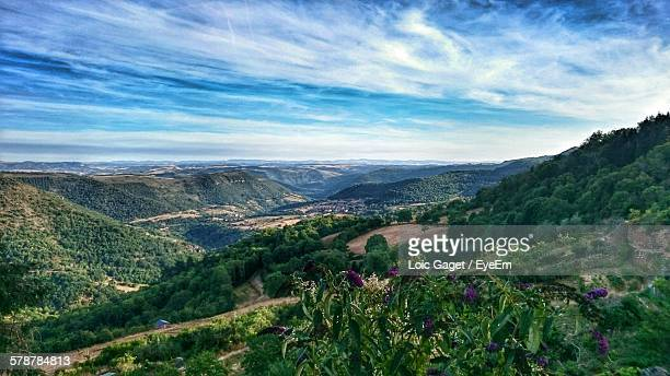 sky over landscape - aveyron stock pictures, royalty-free photos & images