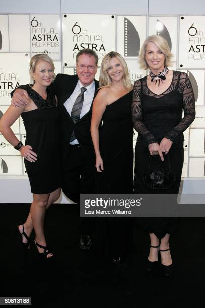 Sky presenters Celina Edmonds, Terry Willesee, Georgia Hawkins and Helen Dalley arrive for the 6th Annual ASTRA Awards at the Hordern Pavillion on...