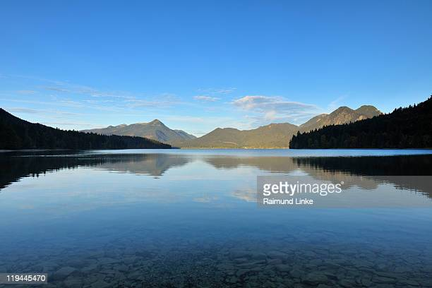 Sky reflected in lake Walchensee