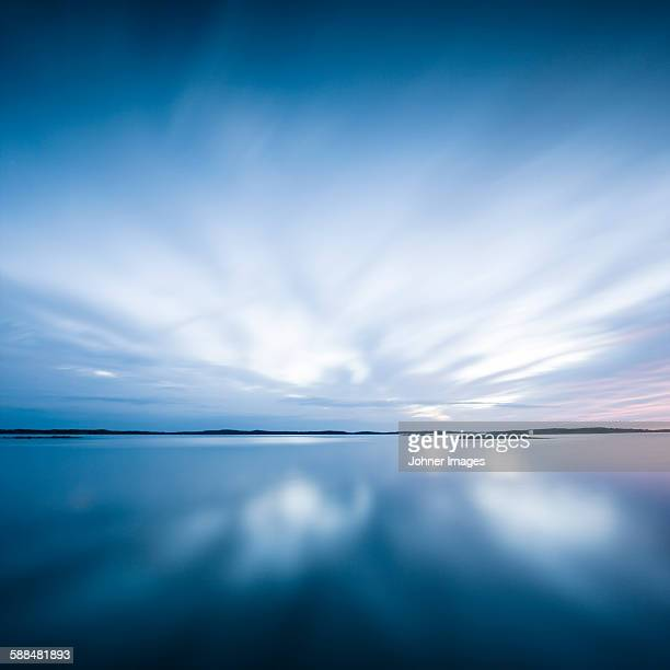 Sky reflecting in sea