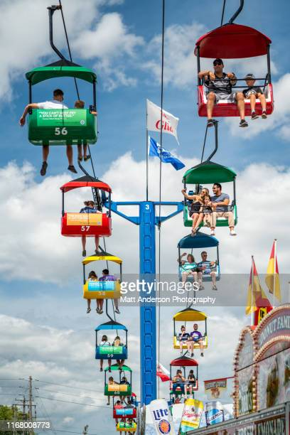 sky ride at wisconsin state fair - festival of remembrance 2019 stock photos and pictures