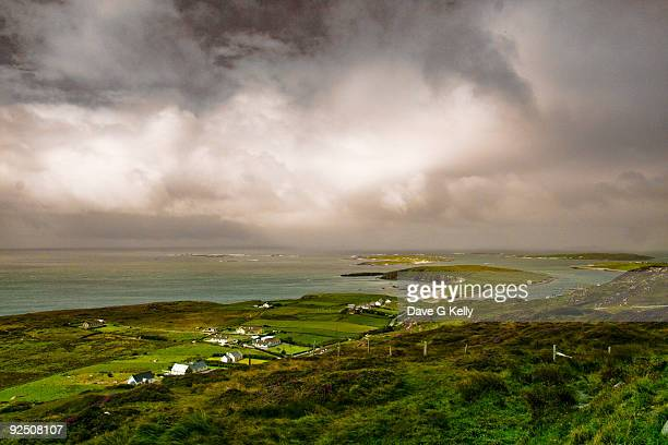 sky road - county galway stock pictures, royalty-free photos & images
