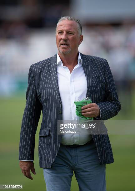Sky Sports commentator and former England Captain Ian Botham during day two of the Second Specsavers Test Match between England and India at Lord's...