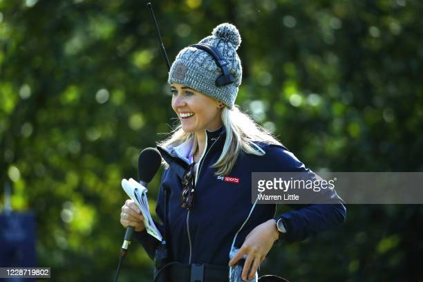 Sky Sports Golf commentator Iona Stephen looks on during Day Three of the Dubai Duty Free Irish Open at Galgorm Spa Golf Resort on September 26 2020...