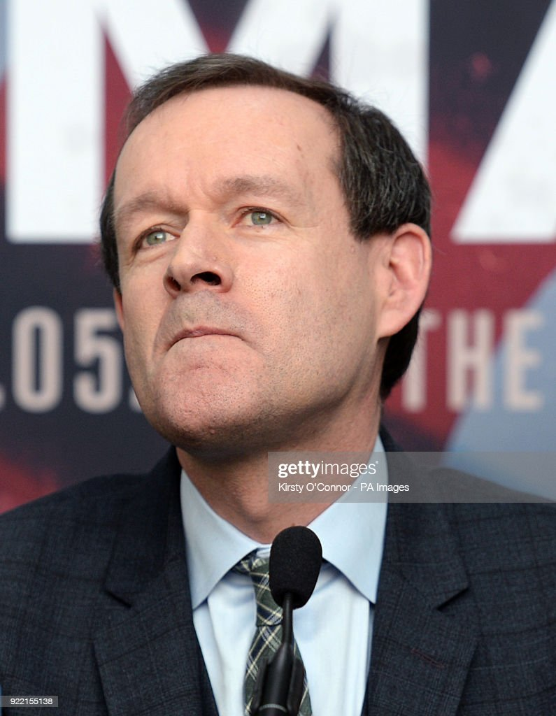 Sky Sports head of boxing Adam Smith during the press conference at Park Plaza Westminster Bridge, London. PRESS ASSOCIATION Photo. Picture date: Wednesday February 21, 2018. See PA story BOXING London. Photo credit should read: Kirsty O'Connor/PA Wire