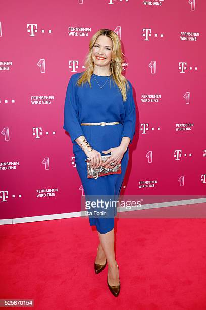 Sky sports moderator Jessica Kastrop attends the Telekom Entertain TV Night at Hotel Zoo on April 28 2016 in Berlin Germany