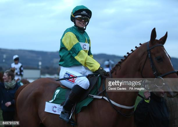 Sky Sports News presenter Alex Hammond before competing in the St Patrick Day Derby on St Patrick's Thursday during Cheltenham Festival