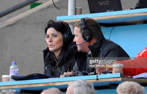 Sky Sports News presenter and Brentford fan Natalie Sawyer in the stands
