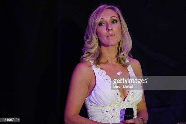 Sky Sports News presenter Vicky Gomersall hosted the charity evening in aid of 'Cure for Dylan' at Stamford Bridge on September 13 2012 in London...