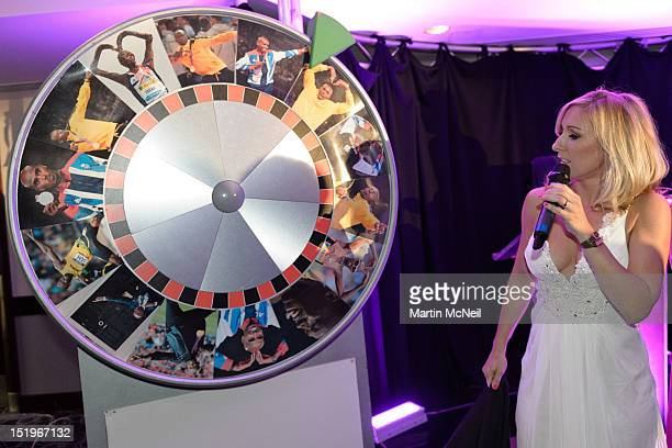 Sky Sports News presenter Vicky Gomersall hosted the charity evening in aid of 'Cure for Dylan'>> at Stamford Bridge on September 13 2012 in London...