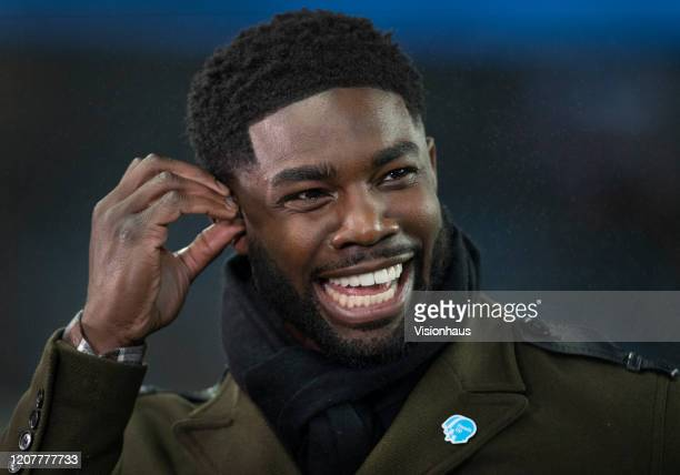 Sky Sports presenter and pundit Micah Richards before the Premier League match between Manchester City and West Ham United at Etihad Stadium on...