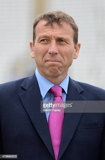 Sky Sports presenter Michael Atherton ahead of the 1st ODI Royal London OneDay match between England and New Zealand at Edgbaston on June 9 2015 in...