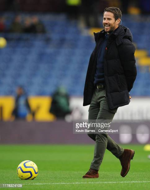 Sky Sports pundit Jamie Redknapp during the Premier League match between Burnley FC and Chelsea FC at Turf Moor on October 26 2019 in Burnley United...