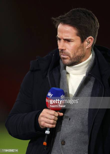 Sky Sports pundit Jamie Redknapp during the Premier League match between Southampton FC and West Ham United at St Mary's Stadium on December 14 2019...
