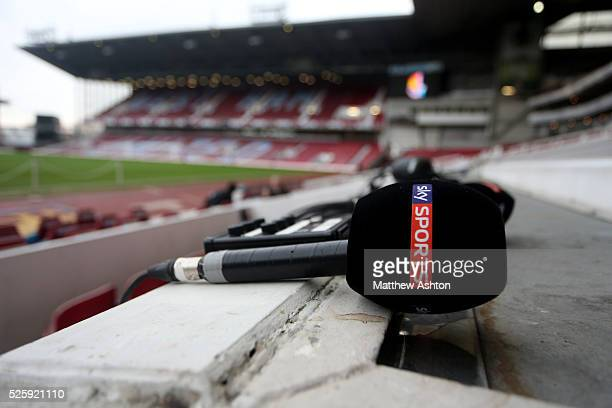A Sky Sports Television microphone
