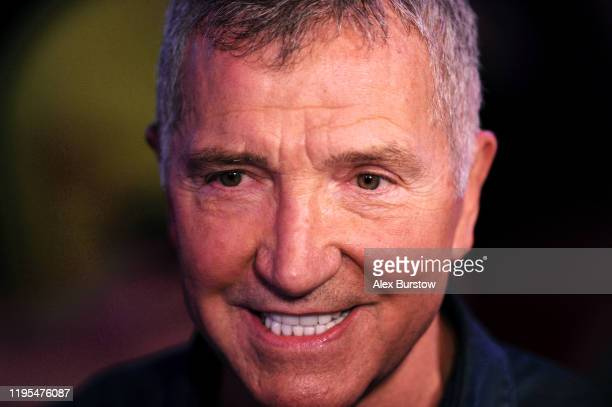 Sky Sports TV pundit and former footballer Graeme Souness reacts as he is interviewed during Day Ten of the 2020 William Hill World Darts...