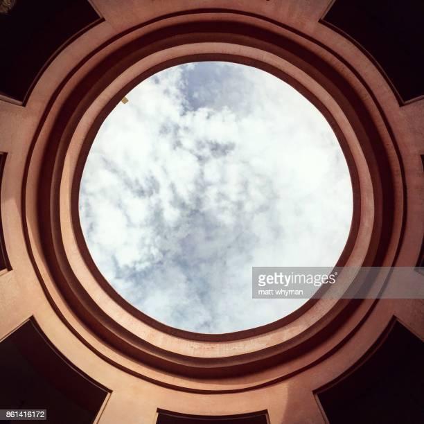Sky through a roof portal