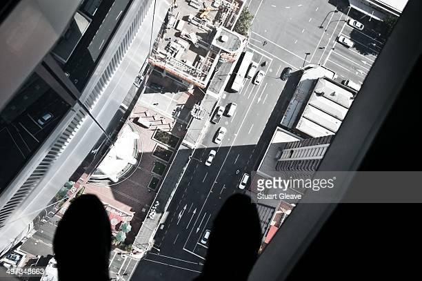 Sky tower viewing platform glass floor