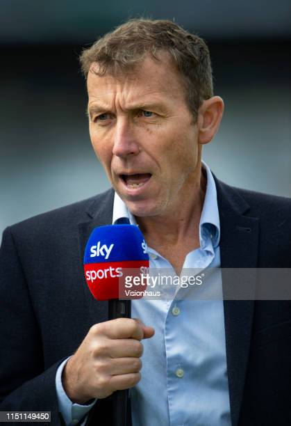 Sky TV commentator and presenter Michael Atherton before the fifth One Day International between England and Pakistan at Headingley on May 19 2019 in...
