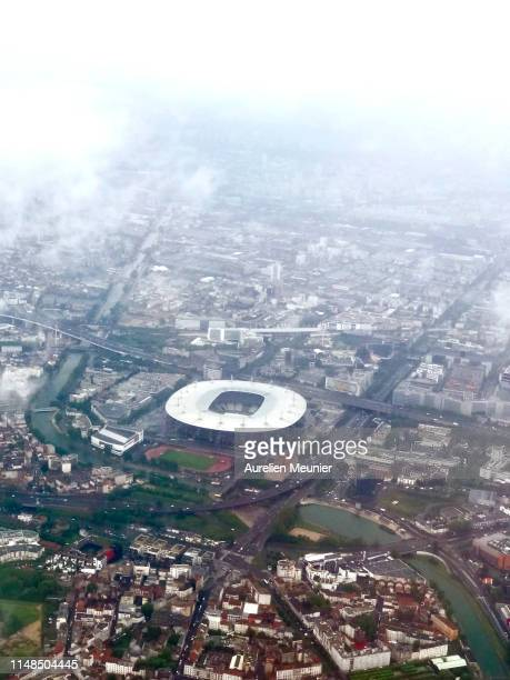 Sky view of the Stade de France on May 11, 2019 in Paris, France.