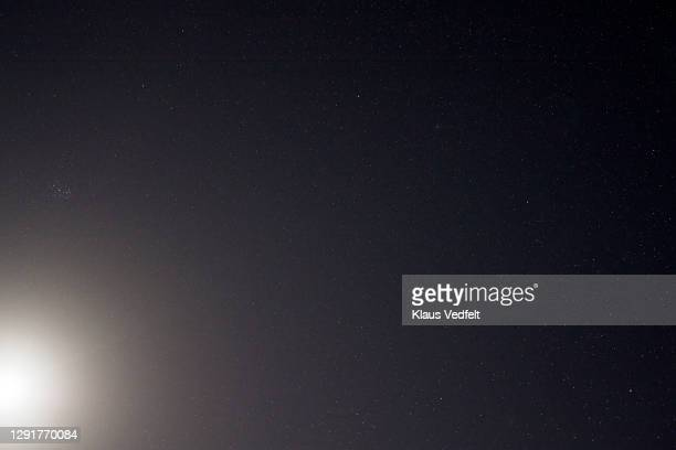 sky with stars at night - atmospheric mood stock pictures, royalty-free photos & images