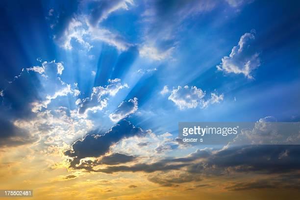Sky With Sun Beams