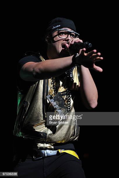 SkyBlu of LMFAO performs at Madison Square Garden on February 24 2010 in New York City