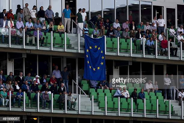 Skybox FC Groningen Europeese vlag during the EL playoff Final match between FC Groningen and AZ Alkmaar at Euroborg on May 18 2014 in Groningen The...