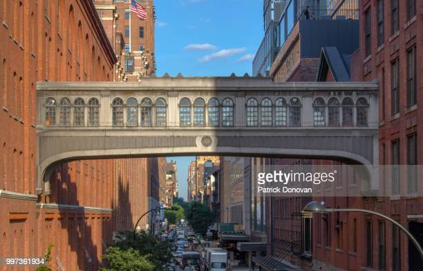 skybridge, 15th street, new york city - chelsea new york stock photos and pictures