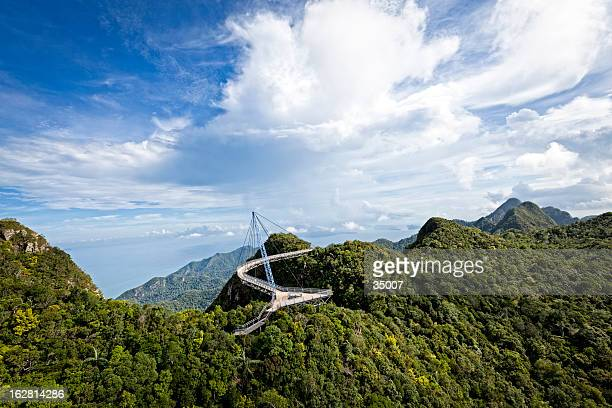 skybridge langkawi - elevated walkway stock pictures, royalty-free photos & images