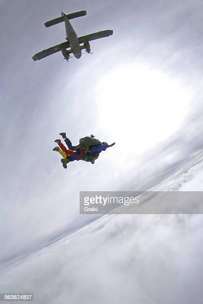 Skydive tandem exit Dornier