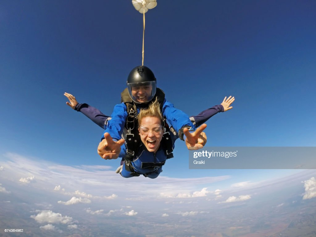 Skydive tandem experience : Stock Photo